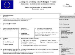Анкета на Французскую Визу в Формате Word