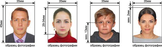 Сделать формат фото как на паспорт